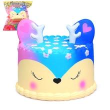 Jumbo Cake Squishy Galaxy Deer Squishies Cream Scented Slow Rising Kid Toy jumbo squishy strawberry scented toy