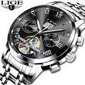 2018 LIGE Брендовые Часы Мужские механические часы автоматические часы модные роскошные часы мужские часы Reloj Hombre Relogio Masculino