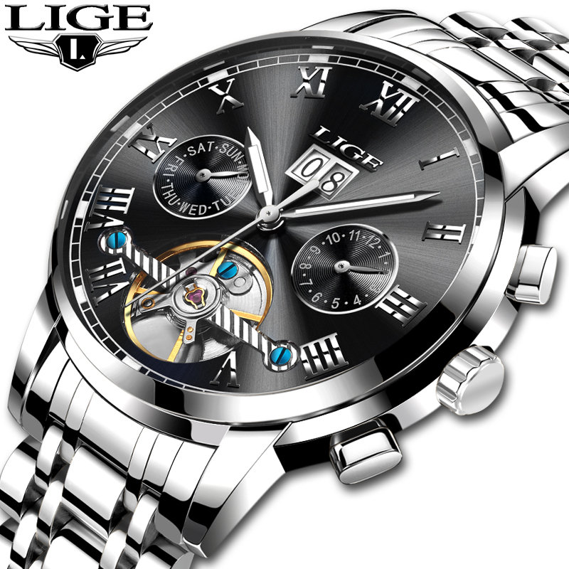 2018 <font><b>LIGE</b></font> Brand Watch Men Mechanical Watch Automatic Watch Fashione luxury Submariner Clock Male Reloj Hombre Relogio Masculino image