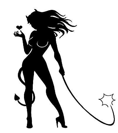Car decals devil whip sexy lady 11.5 x 15cm car stickers decals vinyl  waterproof outdoor decals e92610a8d85