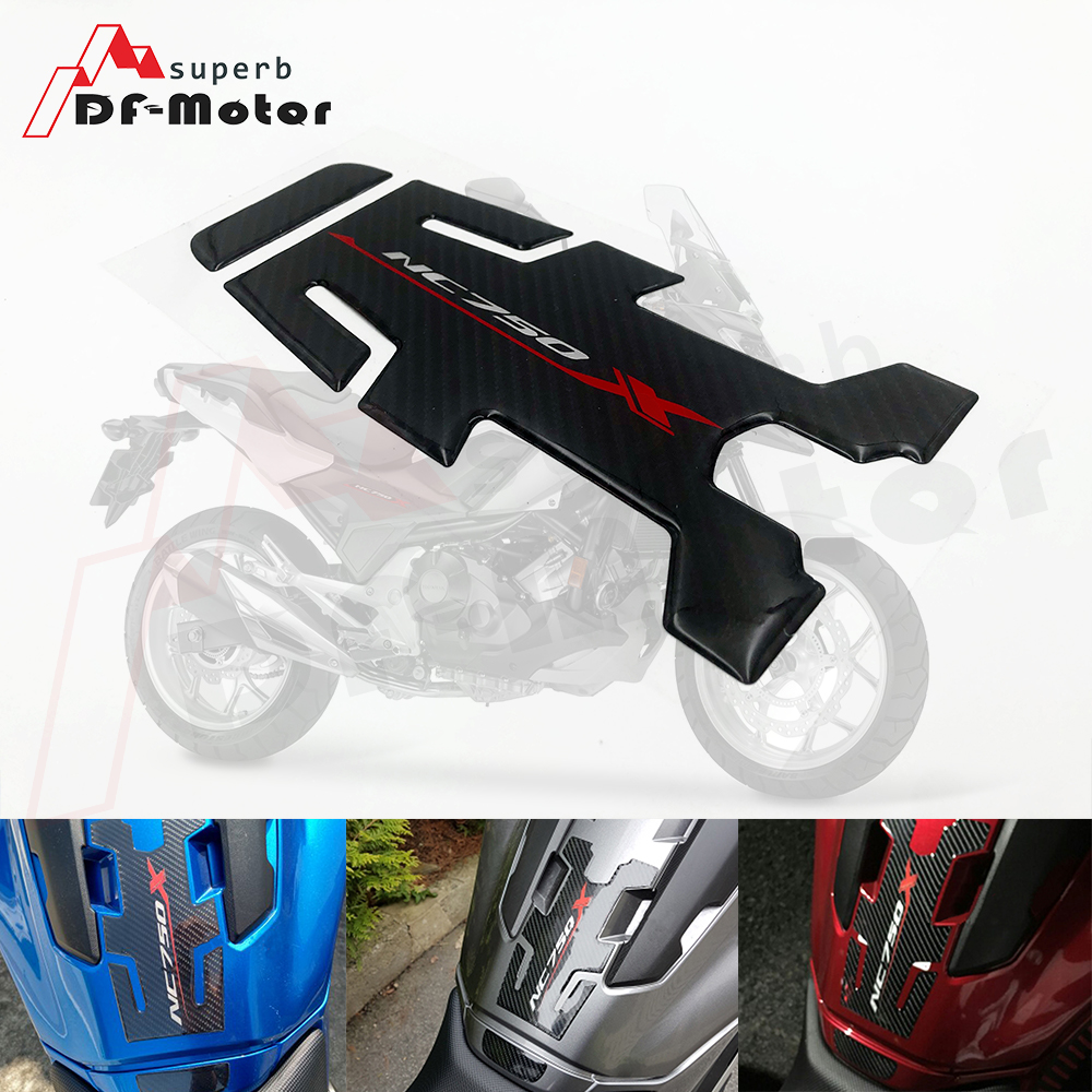 High Quality 3D Carbon Fiber Oil Fuel Gas Tank Pad Tankpad Decal Protector Sticker Motorcycle Decal For HONDA NC750X NC 750 X