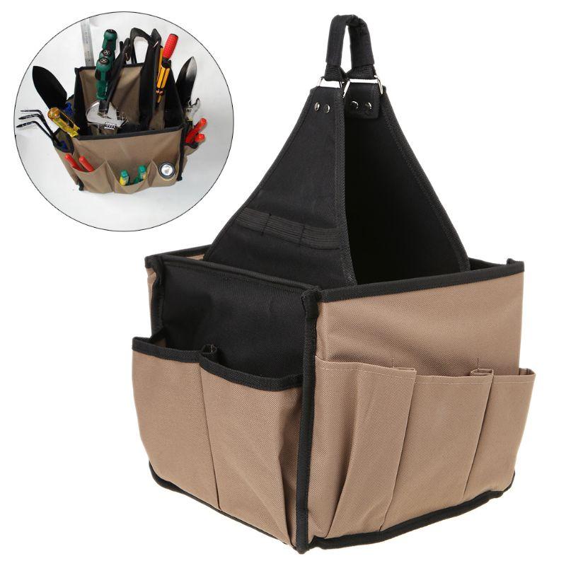 Men Multi-Pocket Tool Bag Utility Pouch Electricians Hanging Bucket Hardware Belt Gardening Tools Storage Organizer