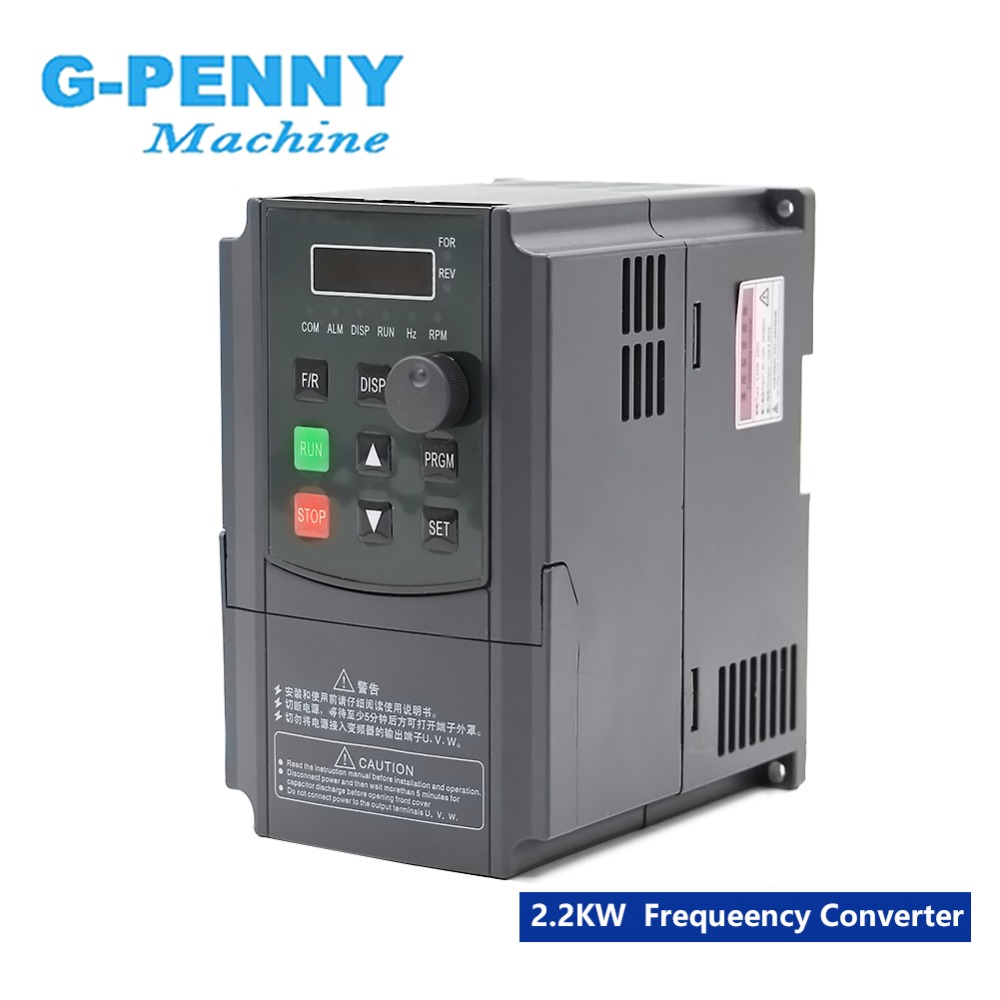 Free Shipping! 220v 1.5kw Inveter 2.2kw VFD Frequency Converter Variable Frequency Drive Spindle Motor Speed Control
