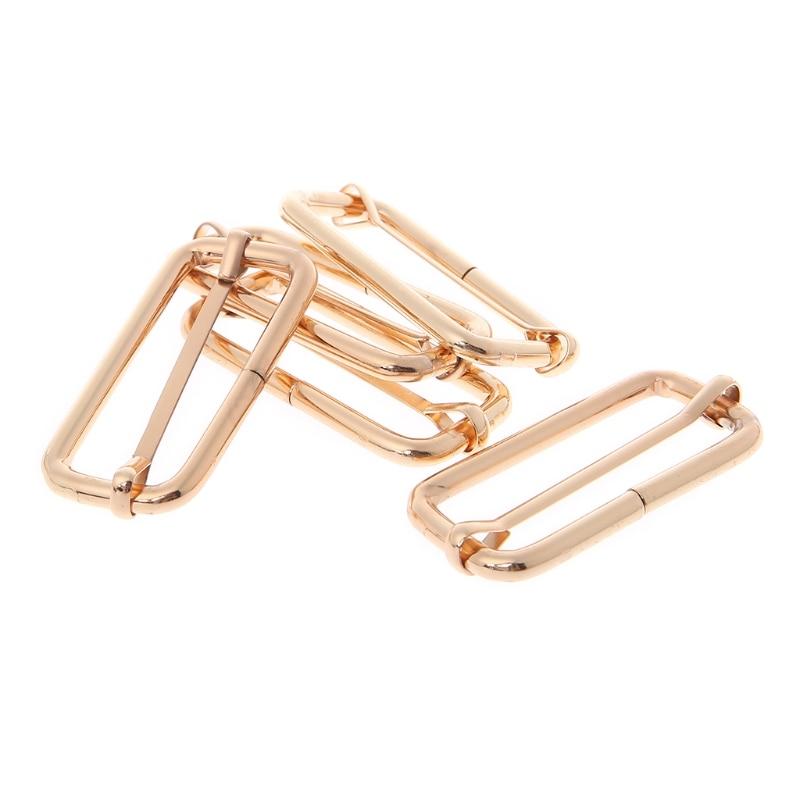 5x Metal Slides Tri-Glides Wire-formed Roller Pin Buckles Strap Slider Adjuster5x Metal Slides Tri-Glides Wire-formed Roller Pin Buckles Strap Slider Adjuster