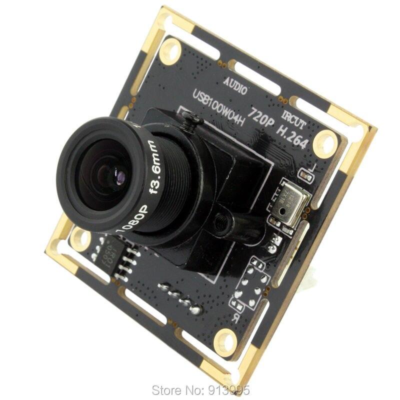 ELP 1mp HD CMOS OV9712 2.8mm lens mini usb web camera with mic  microphone ,720p H.264 usb camera module