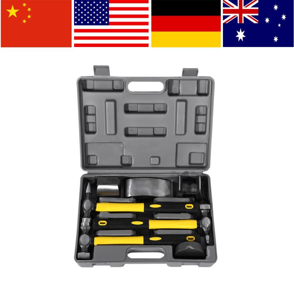 7Pcs Car Auto Body Panel Repair Tool Kit Handles Beating