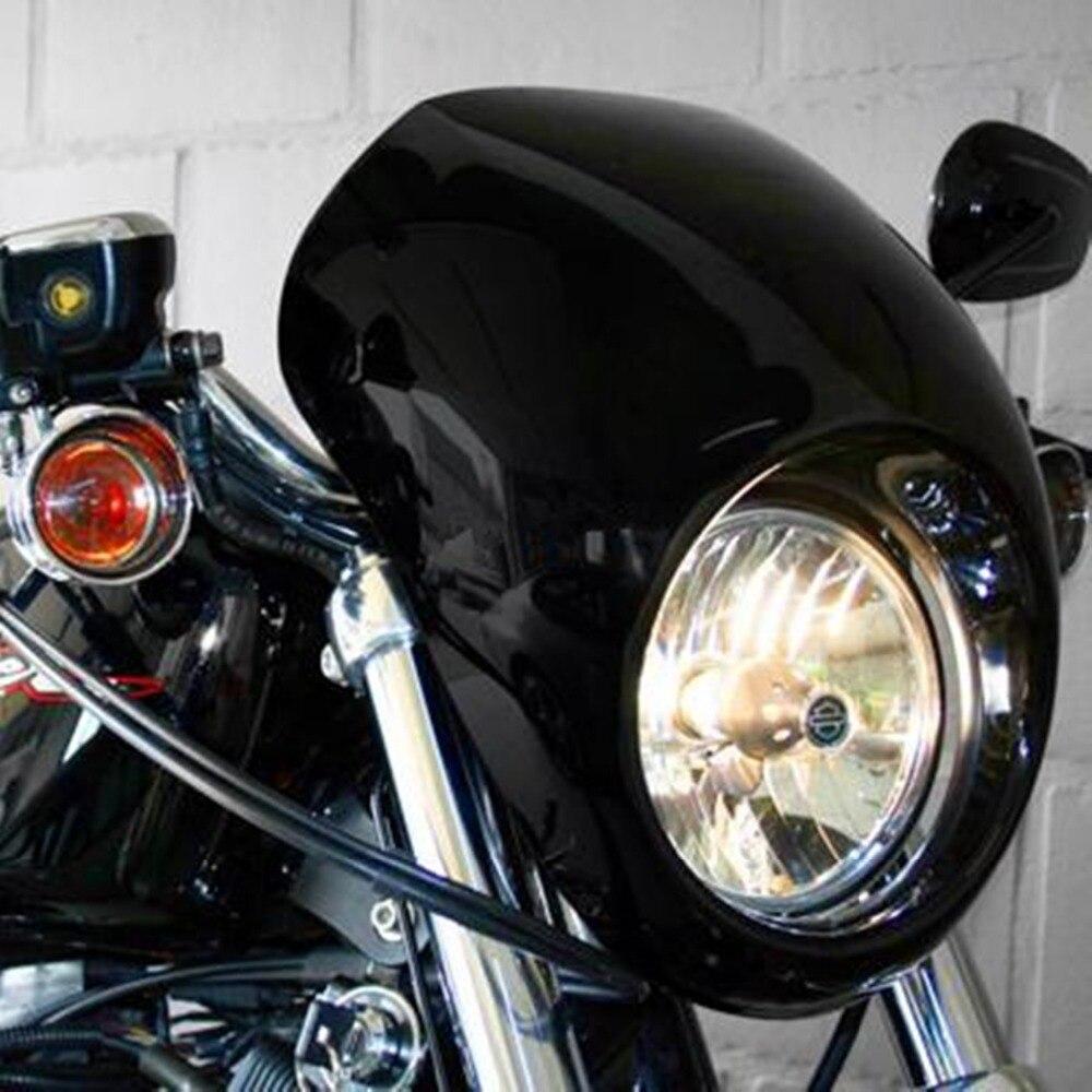 Motorcycle Accessories Matte Black Head Light Fairing Mask Front Visor For Harley Sportster 883 1200 XL motorcycle chrome front spoiler chin fairing for harley sportster xl883 1200 04 15 new