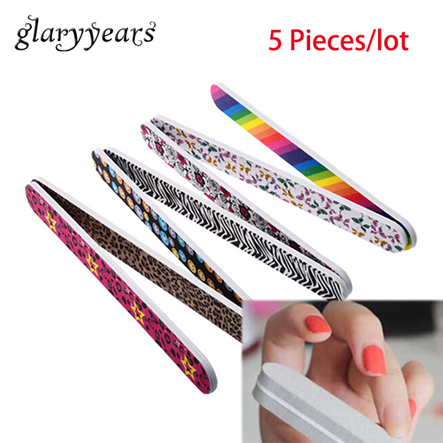 Aliexpress.com : Buy 5 Pieces/lot Nail File Sandpaper Sanding Emery ...