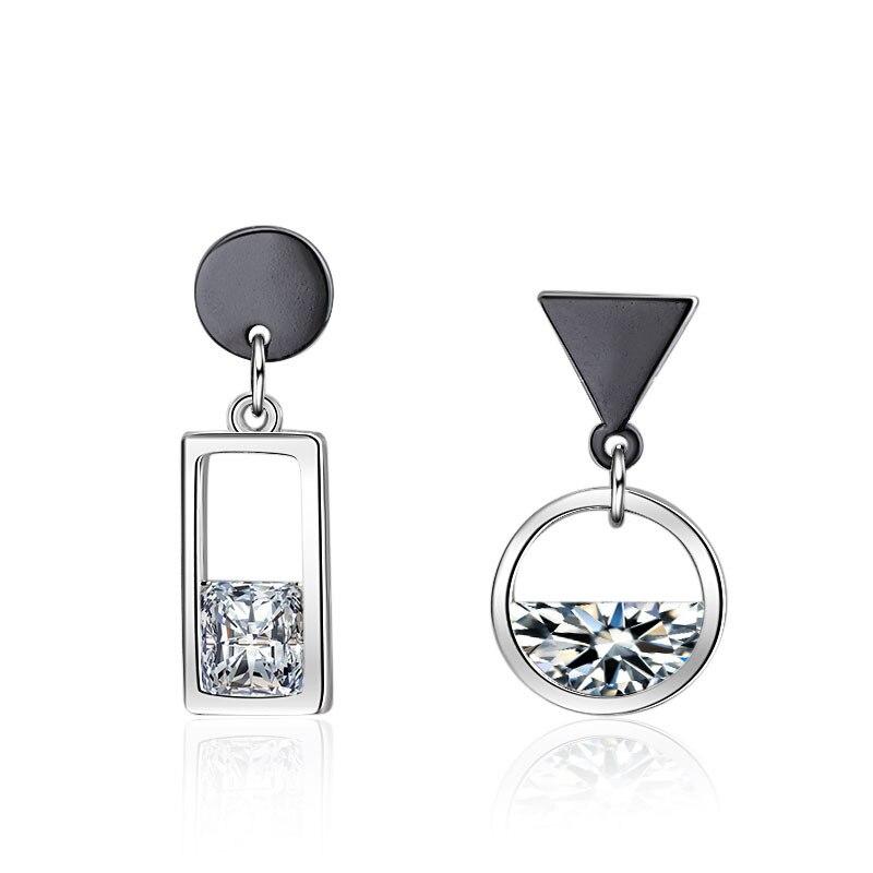 Женские серебряные серьги XIYANIKE, серебристая Асимметричная серьга серебряного цвета в форме пистолета из стерлингового серебра 925 пробы, подарок на свадьбу|Серьги-гвоздики|   | АлиЭкспресс