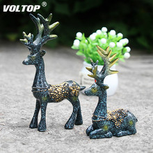 A Pair of Deer Car Dashboard Decoration Girl Accessories Interior  Ornaments Lovely Green Plant Pot