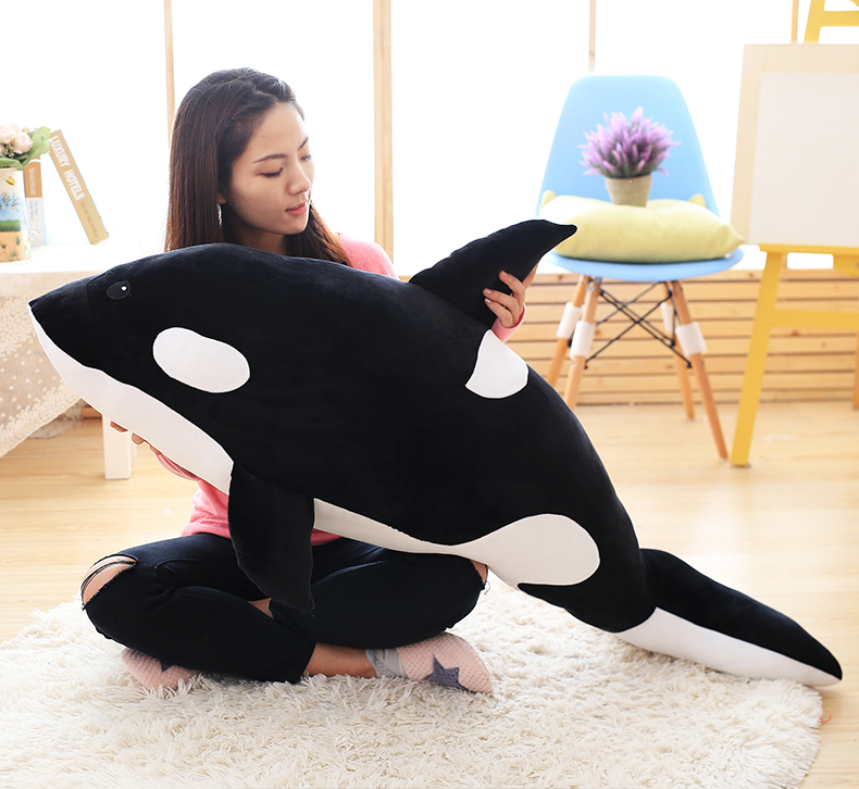 stuffed plush toy large 120cm killer whale grampus throw pillow Christmas gift b0598 stuffed toy large black orangutan plush toy throw pillow christmas gift h209
