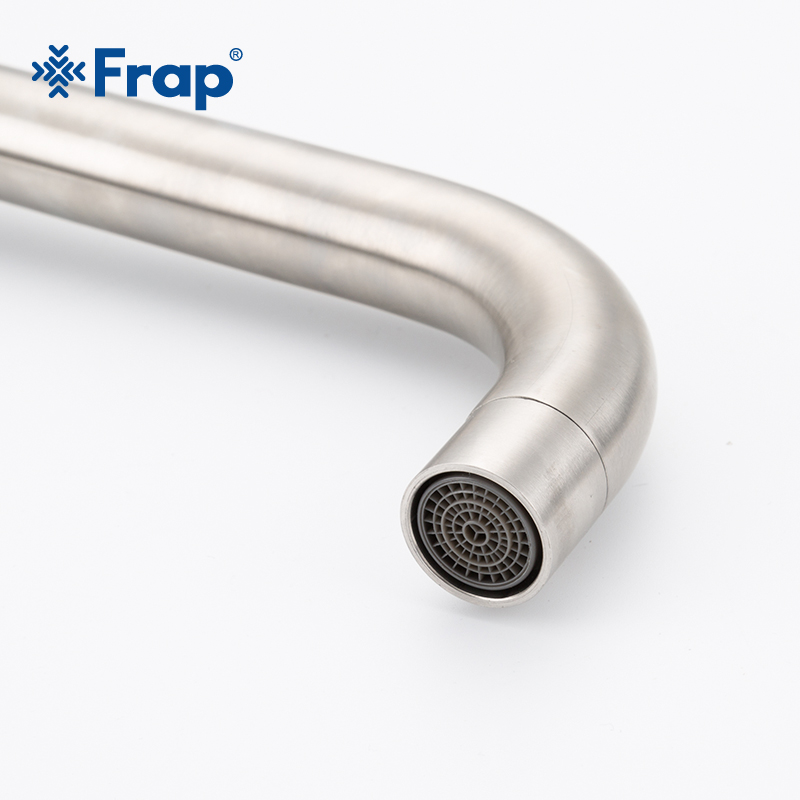 Image 3 - Frap Stainless Steel Kitchen Faucet Brushed Process Swivel Basin Faucet 360 Degree Rotation Hot & Cold Water Mixers Tap Y40107/8Kitchen Faucets   -