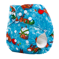 Washable Diapers Couche Lavable Baby Nappies Christmas Pattern newborn Cloth Diaper Waterproof PUL Fitted Reusable Baby Diaper