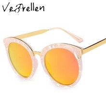 VeBrellen 2017 Fashion Brand Designer Cat Eye Sunglasses Women Polarized Sunglasses Oval Lens UV400 VJ110