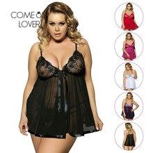 EI2073 Comeonlover Roupas Sexy Lingerie Erótica Mulheres Baby doll Lingerie Sexy Hot Transparente Plus Size 6XL Lingerie Sleepwear
