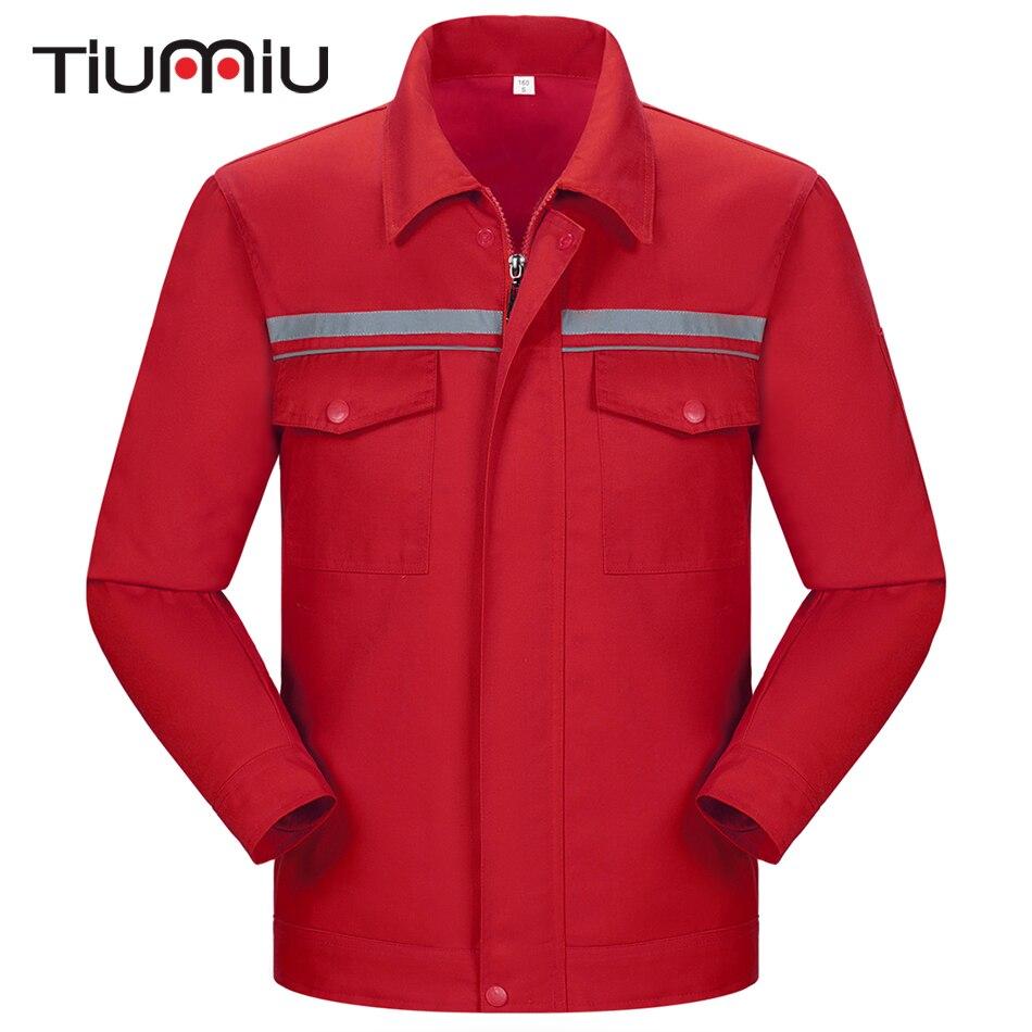 6 Colors High Quality Wholesale Men Work Wear Two-Piece Set Protective Clothing Reflectors Coat Engineering Service Workshop Set