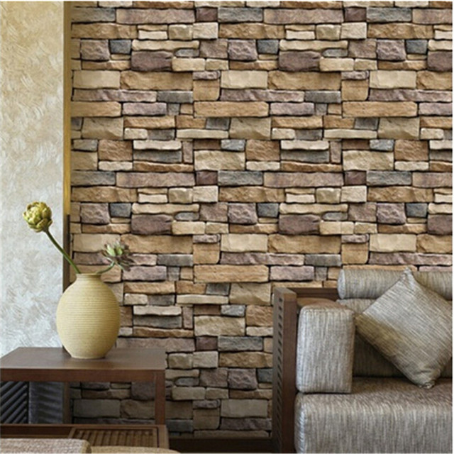 Vintage 3d stereo brick wallpaper rock imitated stonewall vintage 3d stereo brick wallpaper rock imitated stonewall restaurant living room background wallpaper diy home decoration sciox Choice Image