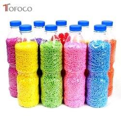 TOFOCO 500 ml/Flasche DIY Schnee Schlamm Partikel Zubehör Schleim Kugeln Kleine Tiny Schaum Perlen Für Floam Füllstoff Für DIY Liefert 2-4mm