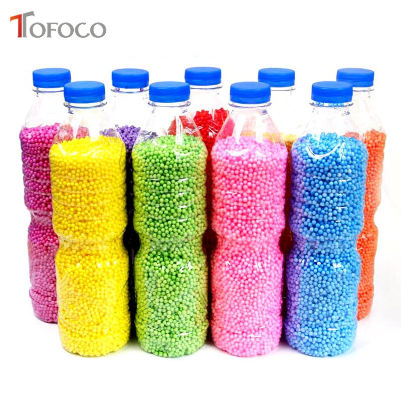 TOFOCO 500ml/Bottle DIY Snow Mud Particles Accessories Slime Balls Small Tiny Foam Beads For Floam Filler For DIY Supplies 2-4mm виктория бородинова зелёная планета экофантастика