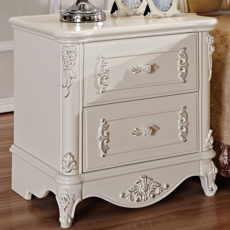 buy european wood ivory white minimalist style bedroom bedside mini storage. Black Bedroom Furniture Sets. Home Design Ideas