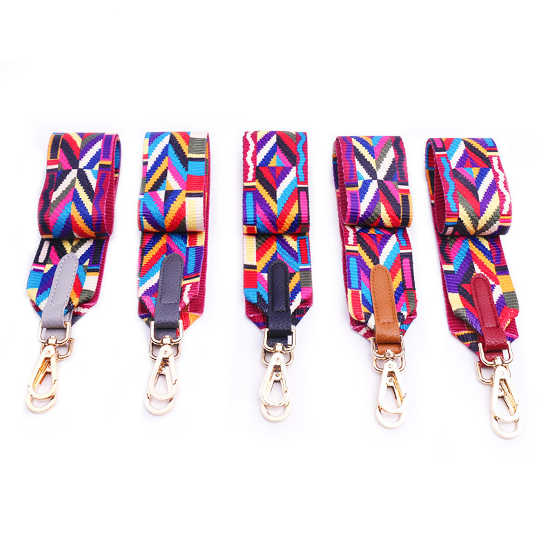 Handles for Handbags Strap Shoulder Tribal Color Patterned Handbag Belt Cross Body Messenger Bag Belt Strap 75*5 cm
