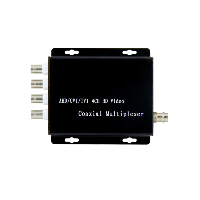 CCTV 4 Channel AHD/TVI/CVI 5MP Video Coaxial Multiplexer  Security Signal Transmission Distance For Hikvision Dahua TVI Camera
