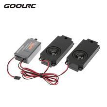 Goolrc rc carro de segunda geração legal do acelerador linkage grupos simulador de som do motor com 2 alto falantes para rc carro esportivo modelo parte