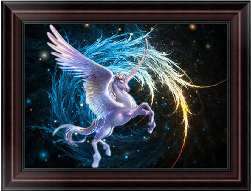 Flying Horse 5D Diamond Embroidery Painting Cross Stitch DIY Craft Wall Decor Home Office Wall Decor Picture C42