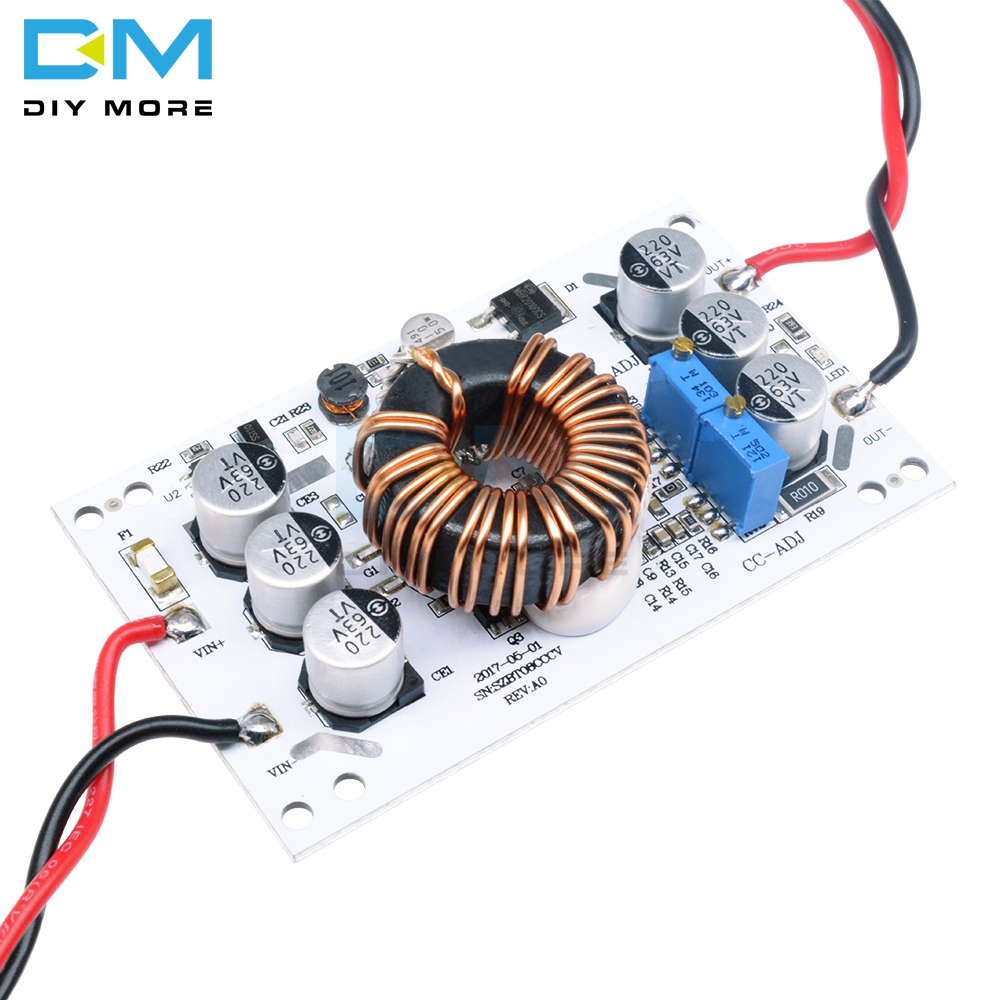 <font><b>600W</b></font> Power Supply Boost Constant Pressure Constant Current Module Adjustable LED Charging Board Non isolated Aluminum Base Plate image
