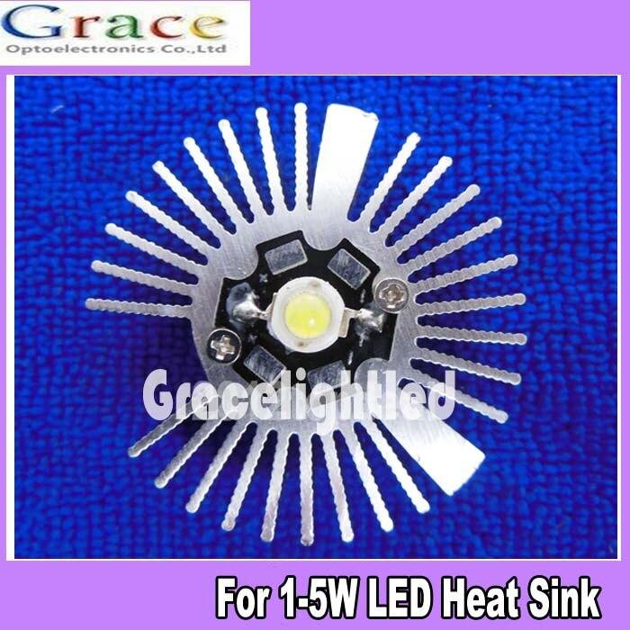 2pcs 47 19mm Round Oxidation Sunflower Aluminum Heatsink For 1w 3w 5w Led Lamp In Led Bulbs
