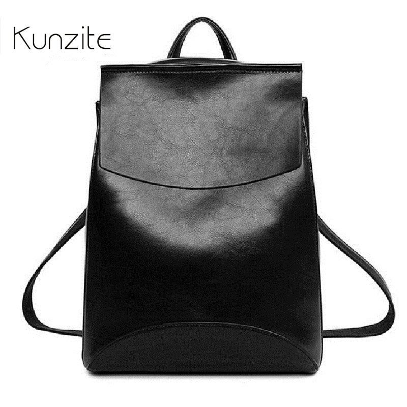 Kunzite 2017 Design PU Leather Backpack Women Backpacks For Teenage Girls School Bags Summer Brand Vintage Backpack High Quality