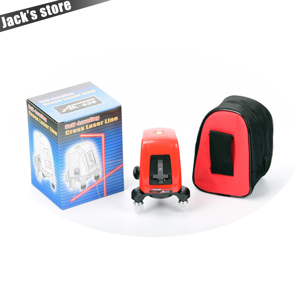 Freeshipping ! AK435 , 360degree self- leveling Cross Laser Level 1V1H Red 2 line 1 point HOT SALE