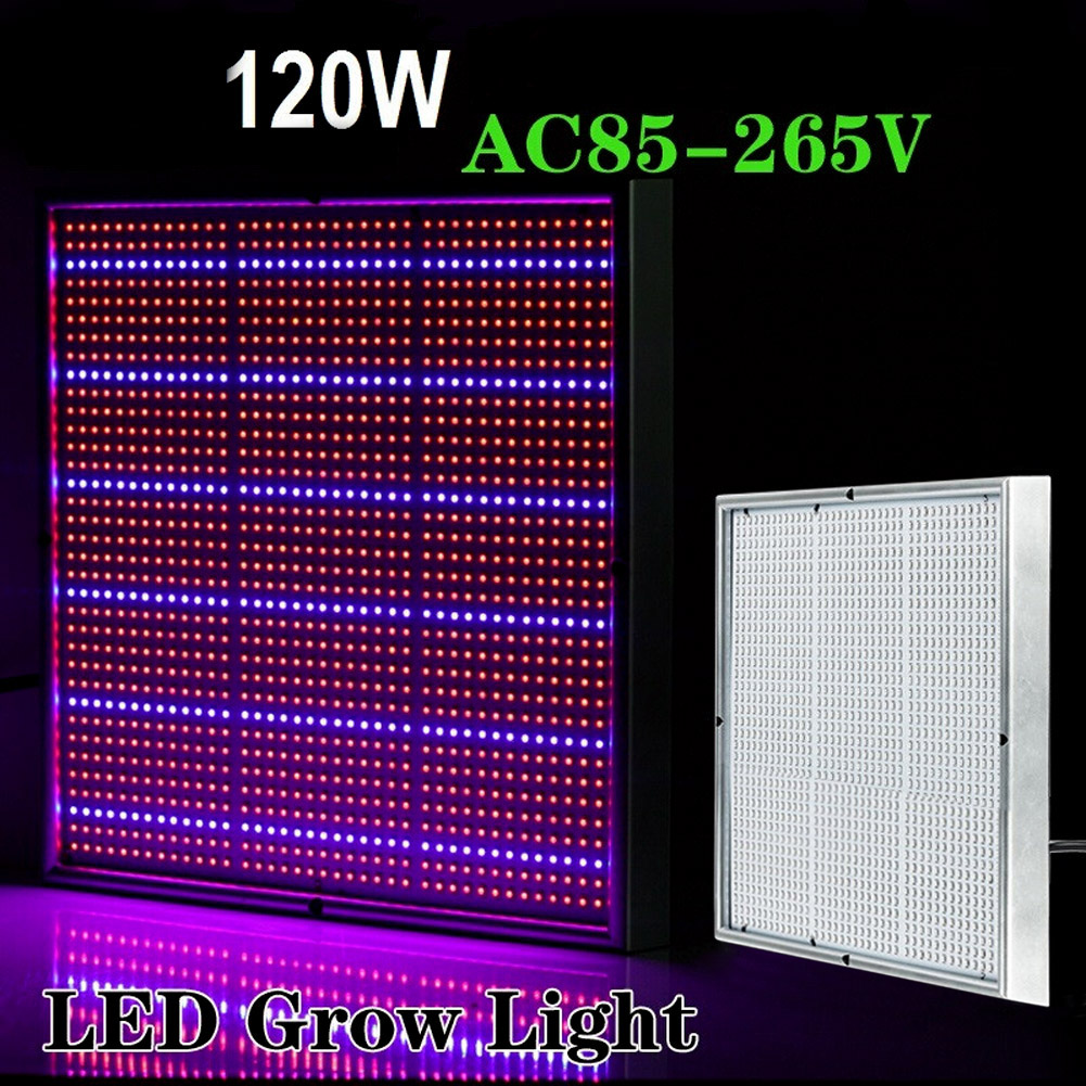 120W 85-265V High Power LED Grow Light Lamp Hydroponics Greenhouse Plant Flower Vegetables Grow Tent box LED Grow Lamp US Plug 2016 new led grow panel 165w led grow light 1131red 234blue led plant lamp for flowers grow box tent greenhouse grows lighting