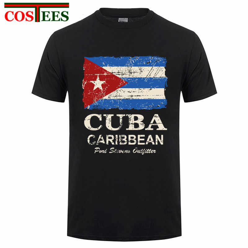 500d2946c1dc Newest 2017 Cheapest Fashion Cuba Flag Men T Shirts Short sleeve men Cuban  flag Vintage Printed