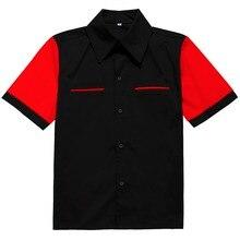 70's Классическая винтажная рубашка мужская с коротким рукавом Одежда с музыкальными принтами большой размер XXL
