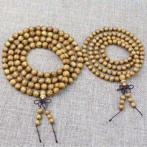 Image 4 - Natural Green Sandalwood Bracelets 6  20mm Tibetan Prayer  Malas Fashion Wooden Beaded Necklace Bracelet  Jewelry men