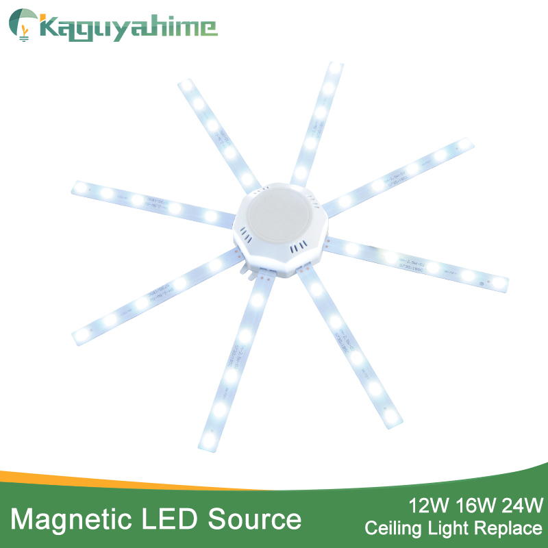Kaguyahime Magnetic Modified Source LED Ceiling Lamp Octopus Light Tube 12W 16W 20W 24W LED Light Board 220V Energy Saving Lamp