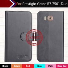 Factory Direct! Prestigio Grace R7 7501 Duo Case 6 Colors Leather Exclusive Special Phone Cover Crazy Horse Cases+Tracking