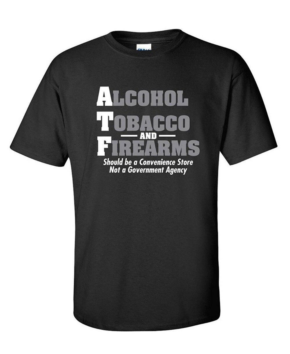 Unique T Chemises À Manches Courtes Alcool Tabac Et Armes À Feu Devrait canons Atf Nouveauté Ras Du Cou Mode 2018 T-shirts Pour hommes