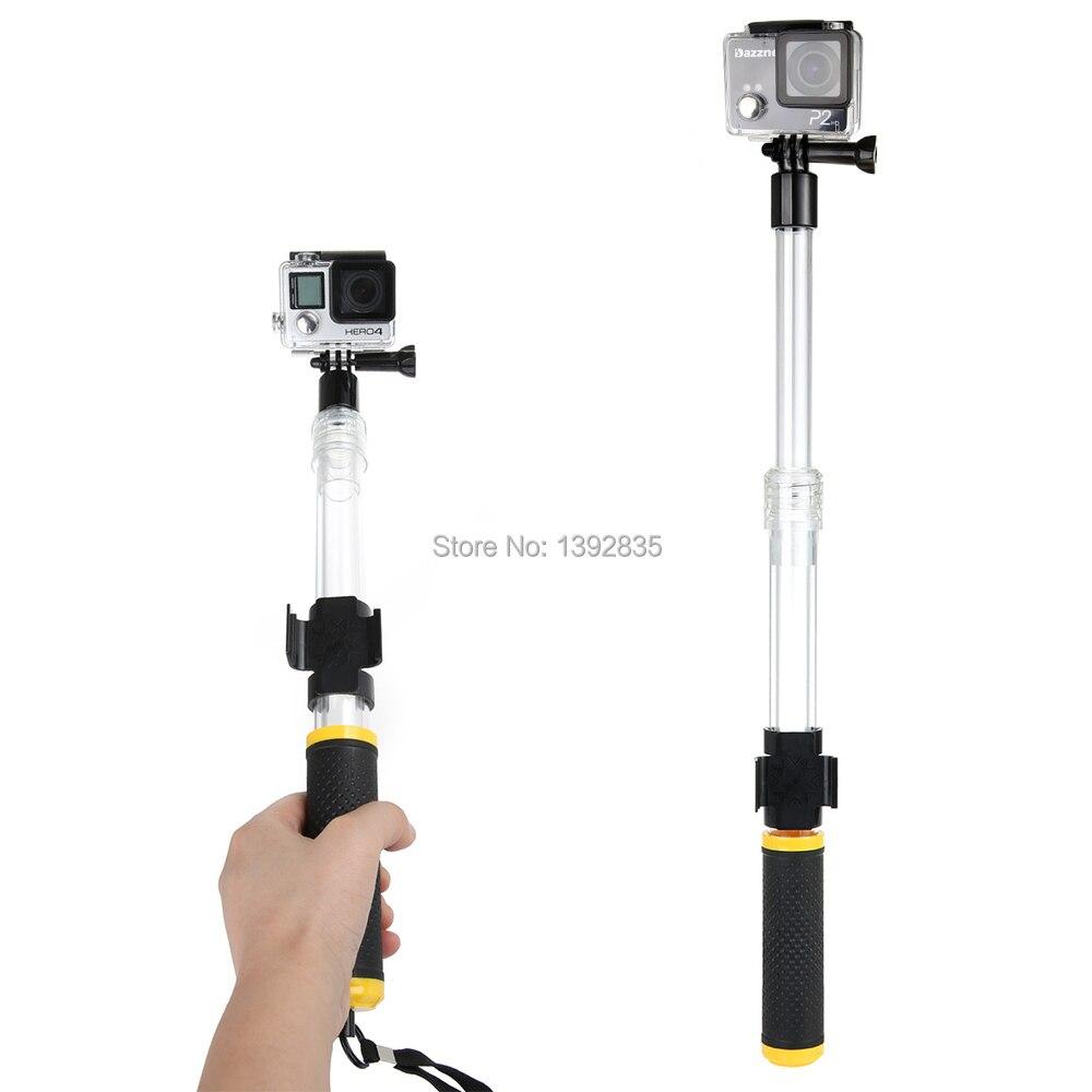 רק עכשיו GoPro צף מוט מאריך EVO 14-24 אינץ ' לוטי חדרגל עם WIFI Remote קליפ Gopole לgopro Hero 4 3+/3 SJ4000