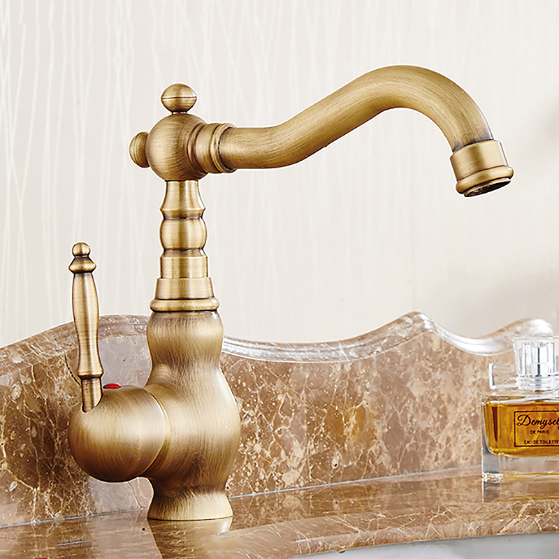 High Quality Antique Bathroom Faucet Kitchen Basin Water Mixer Taps ...