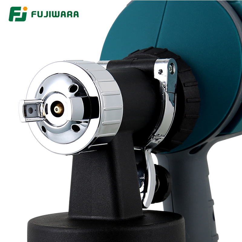 Image 5 - FUJIWARA Electric Spray gun 220 240V 50HZ  Airbrush 1.5mm/1.8mm/2.5mm Nozzle High Atomizing Spray Paint Tool-in Spray Guns from Tools on