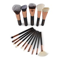 Shipped From US 15 Pcs Set Women Professional Powder Make Up Brushes For Eye Nose Face