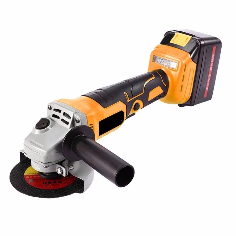 купить Cordless Angle Grinder Brushless motor Lithium Battery Rechargeable Grinding Machine Polishing Cutting Grinding Sanding Wax Tool недорого