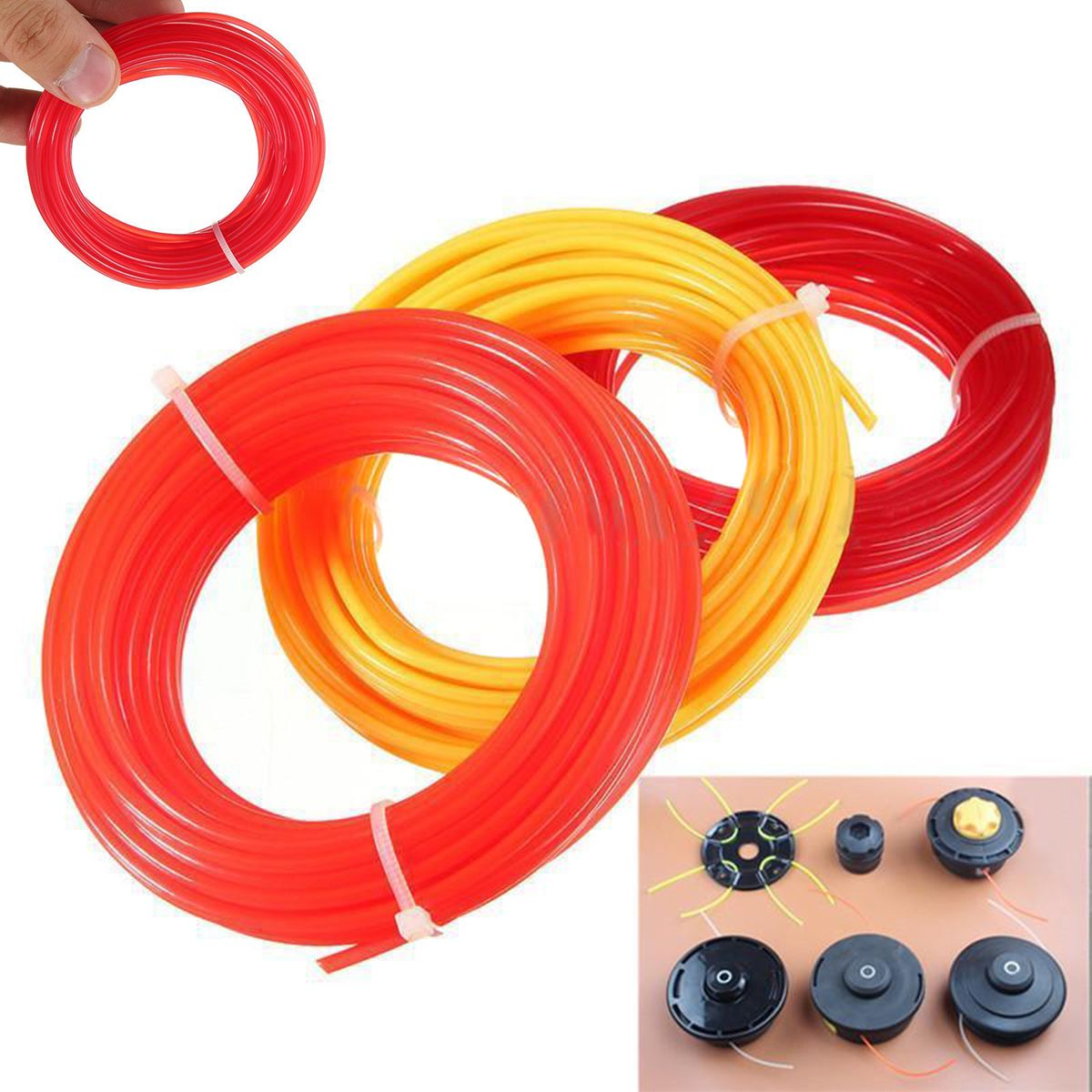10m x 2mm strimmer line brushcutter grass trimmers nylon cord wire round tg FBB