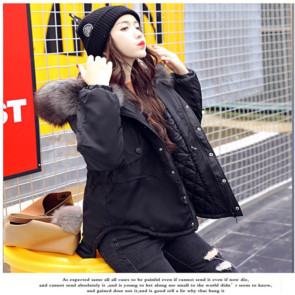 D'hiver 2018 rose Standard Green Veste Court Bleu Manteau À marine army Uigurgal Capuche Épais Et Noir Parkas Rembourré Pour Wear Femmes Casual 45Fdxnq