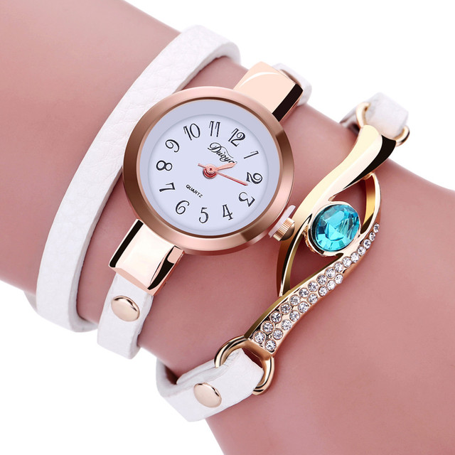 Women Watches Fashion Casual Bracelet Watch Woman Relogio Leather Band Rhineston