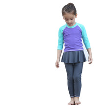 3 Pieces Skirted Baby Bikini for Girls Lycra Long Sleeve infantil biquini Swimming Bathing Suit Muslim Swimwear Swimsuit