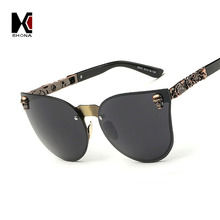 Gothic / Crystal Skull Steampunk Sunglasses / High Quality Rhinestone