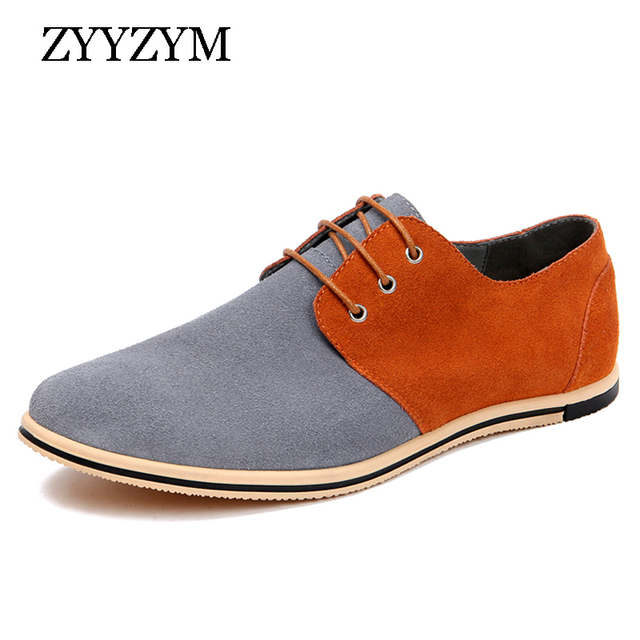 Grand Daim Taille Lacets Casual Chaussures Plates TNwILU